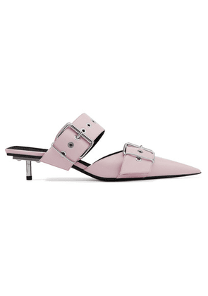Balenciaga - Belt Leather Mules - Pink