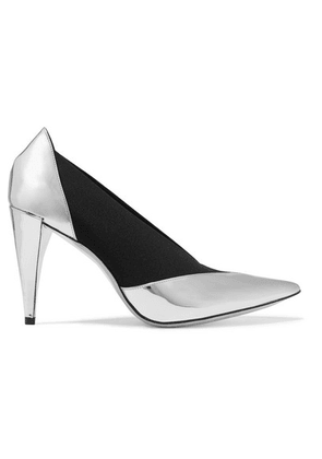 Givenchy - Mirrored-leather And Elastic Pumps - Silver