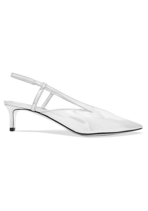 Givenchy - Mirrored-leather Slingback Pumps - Silver