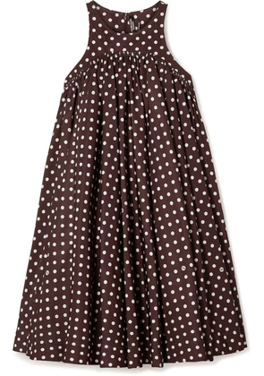 CALVIN KLEIN 205W39NYC - Polka-dot Twill Mini Dress - Brown