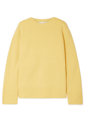 The Row - Sibel Oversized Wool And Cashmere-blend Sweater - Pastel yellow