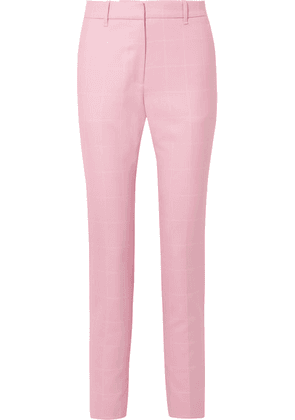 CALVIN KLEIN 205W39NYC - Checked Wool Straight-leg Pants - Baby pink