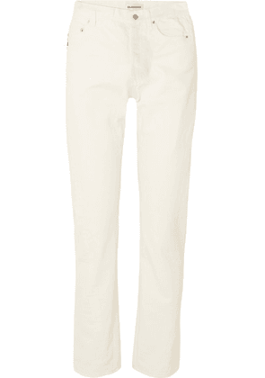 Balenciaga - Twisted High-rise Straight-leg Jeans - White