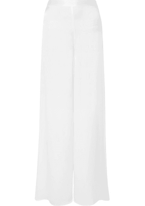 Cami NYC - The Tommy Silk-charmeuse Wide-leg Pants - White