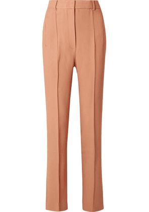 Khaite - Carla Twill Straight-leg Pants - Antique rose