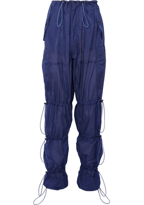 Unravel Project - Ruched Shell Cargo Pants - Navy