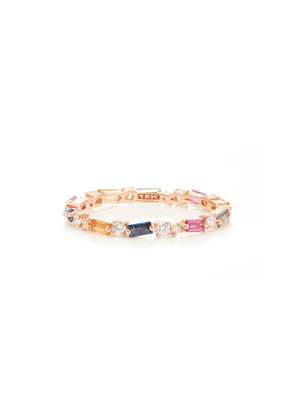 Suzanne Kalan 18K Rose Gold Sapphire and Diamond Ring