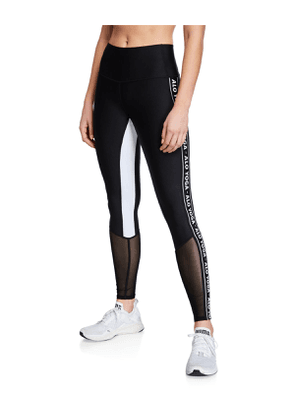 High Waist Logo Colorblock Trainer Leggings