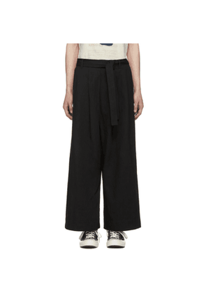 Naked & Famous Denim SSENSE Exclusive Black Oxford Trousers