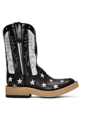 TAKAHIROMIYASHITA TheSoloist. Black Rios of Mercedes Edition Stars and Stripes Boots