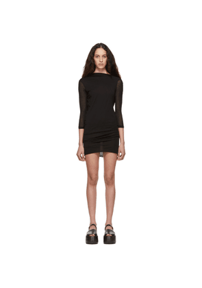 Rick Owens Lilies Black Heavy Jersey Low Back Dress