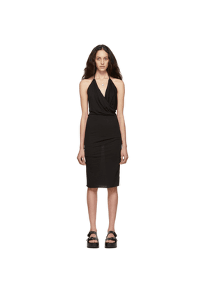 Rick Owens Lilies Black Heavy Jersey Halter Dress
