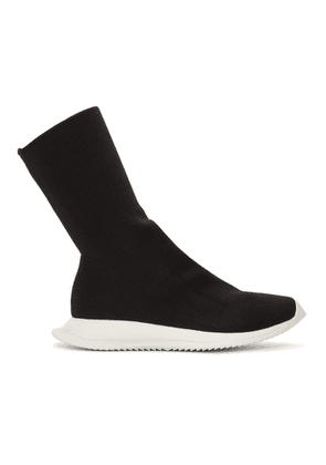 Rick Owens Drkshdw Black New Runner Sock Sneakers