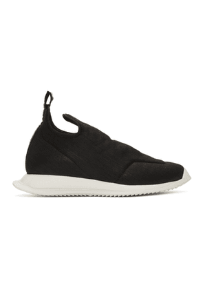 Rick Owens Drkshdw Black New Runner Slip-On Sneakers
