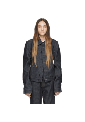 Rick Owens Drkshdw Indigo Denim Worker Jacket