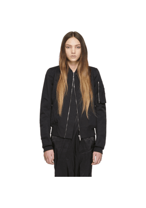Rick Owens Drkshdw Black Flight Bomber Jacket
