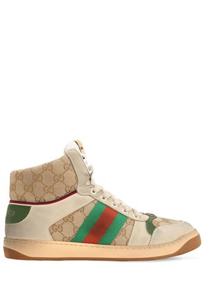 Screen Hike Gg Leather & Canvas Sneakers
