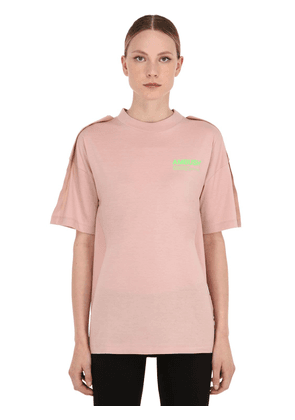 Oversize Logo Cotton Jersey T-shirt