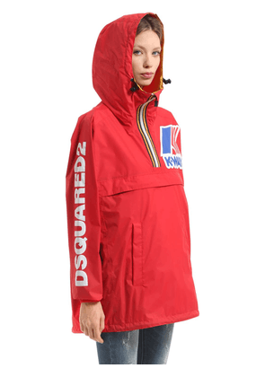 K-way Reversible Logo Nylon Rain Jacket