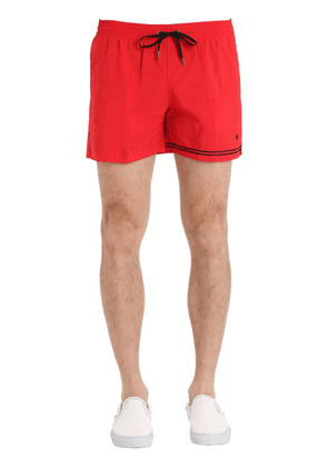 Nylon Swim Shorts With Stripe Detail