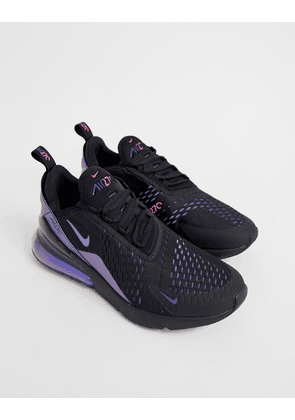 finest selection f960d b60e9 Nike Air Max 270 iridescent trainers in black