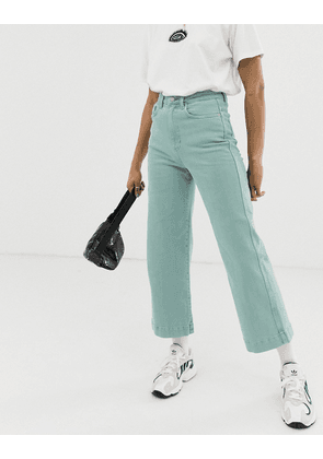 Weekday wide leg Veer jeans in sage green