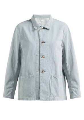 Chimala - Striped Cotton Jacket - Womens - Light Denim