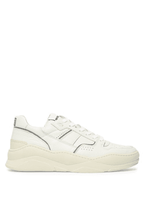 Ami - Basket Leather Low Top Trainers - Mens - White