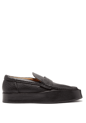 581c02a9684 Acne Studios - Grained Faux Leather Loafers - Mens - Black