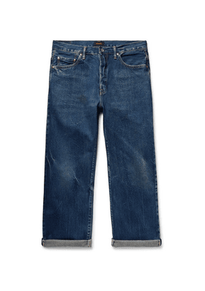Chimala - Cropped Washed Selvedge Denim Jeans - Blue