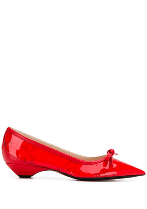 No21 front bow ballerinas - Red