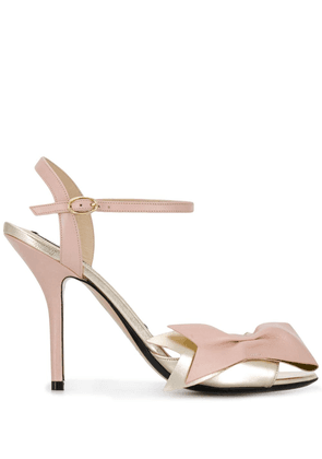 No21 front bow sandals - Gold