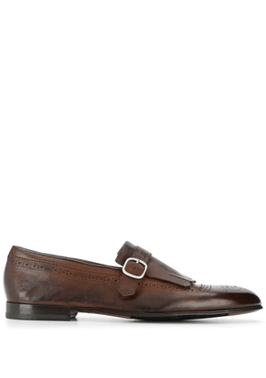 Doucal's buckled monk shoes - Brown