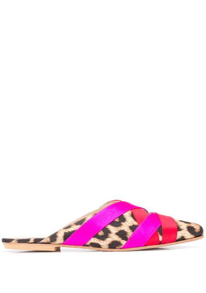 Gia Couture ribbon mules - Pink