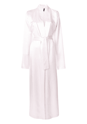 Unravel Project long classic robe - Pink