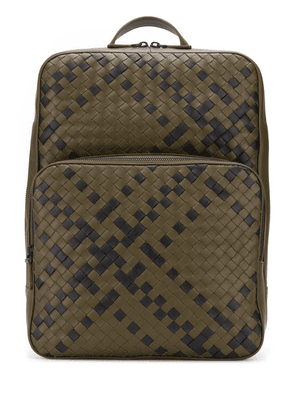 Bottega Veneta Double Brick intrecciato backpack - Green