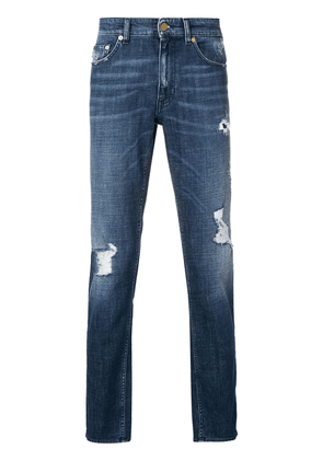 Love Moschino distressed jeans - Blue