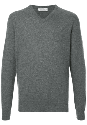 Gieves & Hawkes classic V-neck pullover - Grey