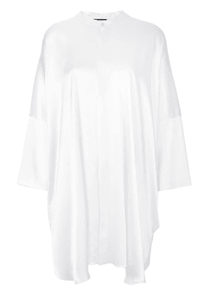 Baja East silky shirt dress - White