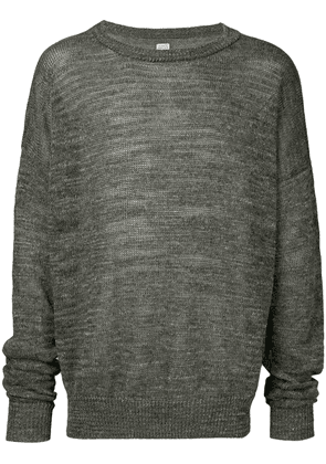 E. Tautz melange round neck jumper - Brown