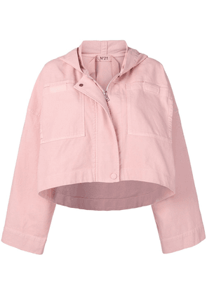No21 cropped hooded jacket - Pink