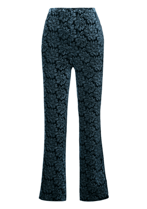 Maison Margiela floral embroidered trousers - Blue