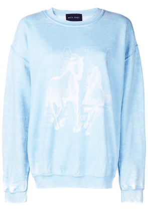 Baja East logo print jumper - Blue