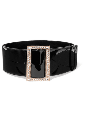 Alexandre Vauthier - Crystal-embellished Patent-leather Belt - Black