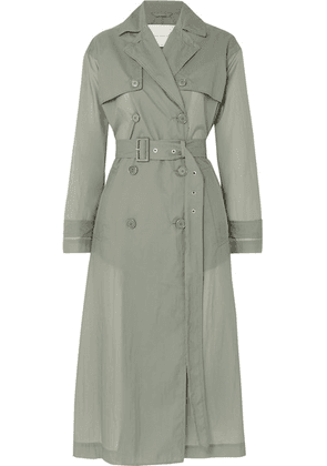 Mackintosh - Belted Shell Trench Coat - Gray