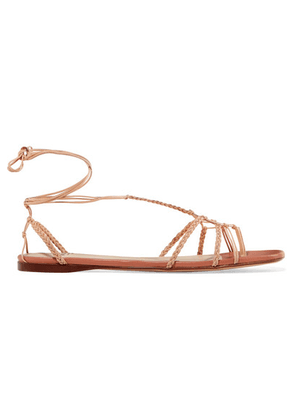 Francesco Russo - Braided Leather Sandals - Neutral