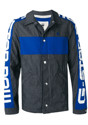 G-Star Raw Research stamped sleeves denim jacket - Blue