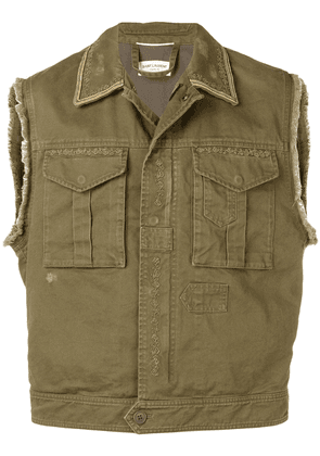 Saint Laurent utility vest - Green