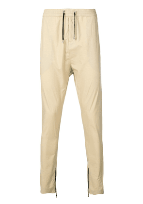 Balmain drawstring tapered trousers - Neutrals