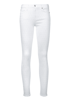 7 For All Mankind embellished skinny jeans - White